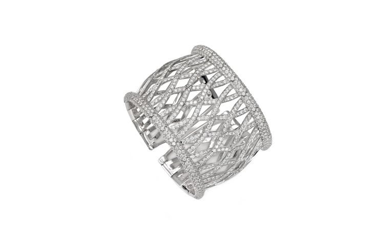 Picchiotti 'Wedding Day' diamond and platinum bangle from Bridal collect...