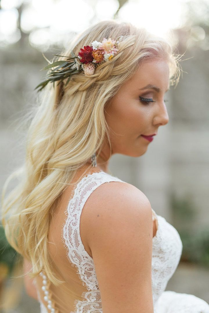 Featured Photographer:Brian Sumner; wedding hairstyle idea