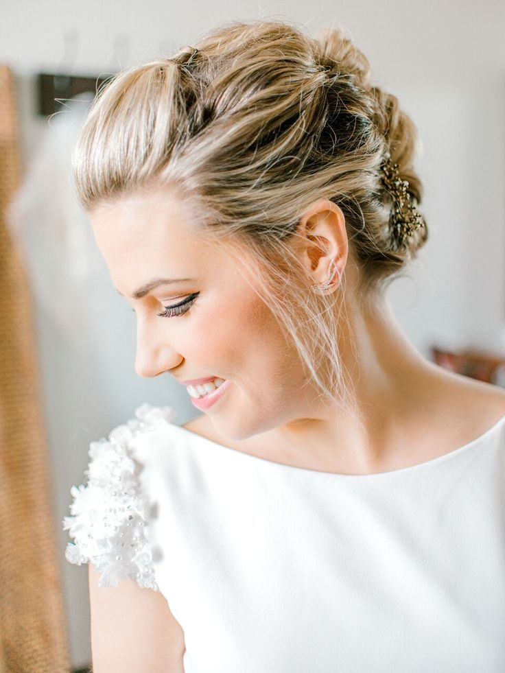 Featured Photographer: Cottonwood Road Photography; Wedding hairstyles ideas.