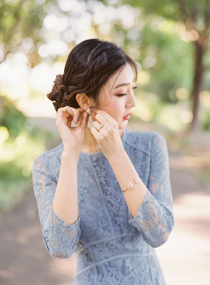 Featured Photographer: Nathalie Cheng Photography; Wedding hairstyles ideas.