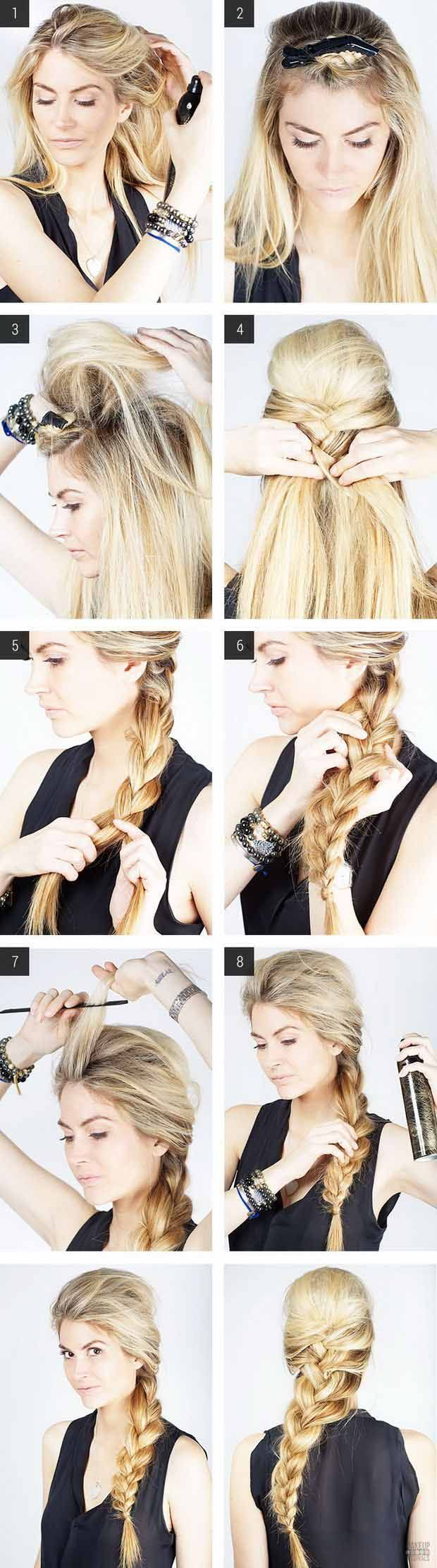 Messy French Braid | Step By Step Easy Hair Tutorial for Work by Makeup Tutorial...