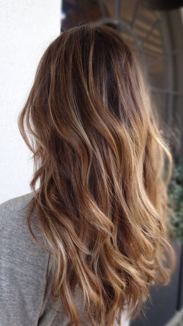 Balayage. Long haircut with waves. Natural. Ombré.