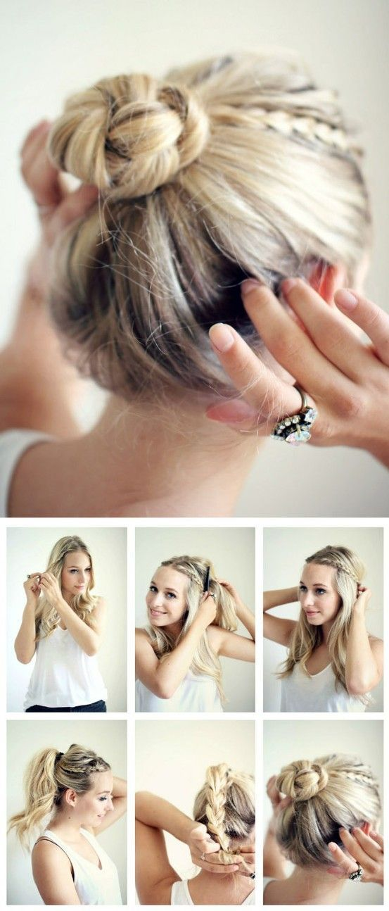 Braided Bun quick and easy tutorial step by step.