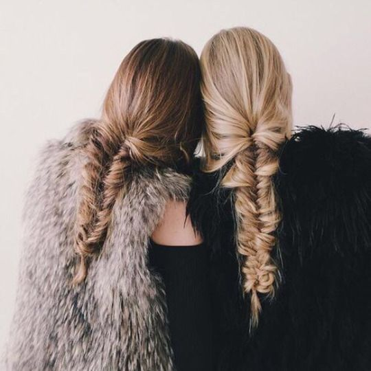 Fishtail braids.