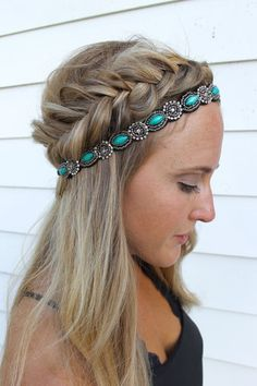 Headbands of Hope — Teal Lush. Hairdo to copy if you are going to a summer fes...