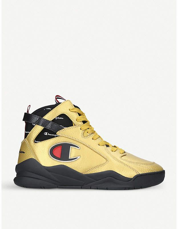 Champion Zone '93 leather high-top trainers
