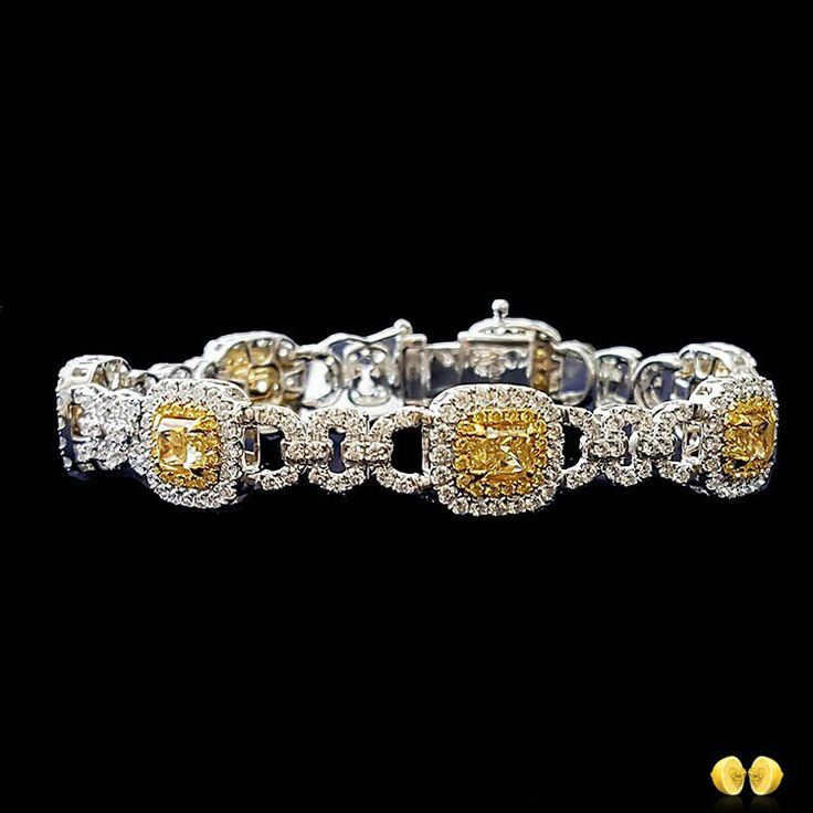 @novelcollectionasia The final post in our fancy yellow diamond bracelet series ...