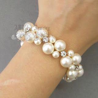 Aprende cómo hacer una hermosa pulsera de perlas paso a paso ~ Solountip.com #j...