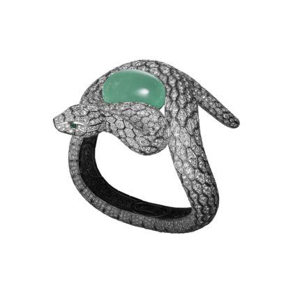 CARTIER BRACCIALE DI ALTA GIOIELLERIA Bracciale - platino, uno smeraldo brasilia...