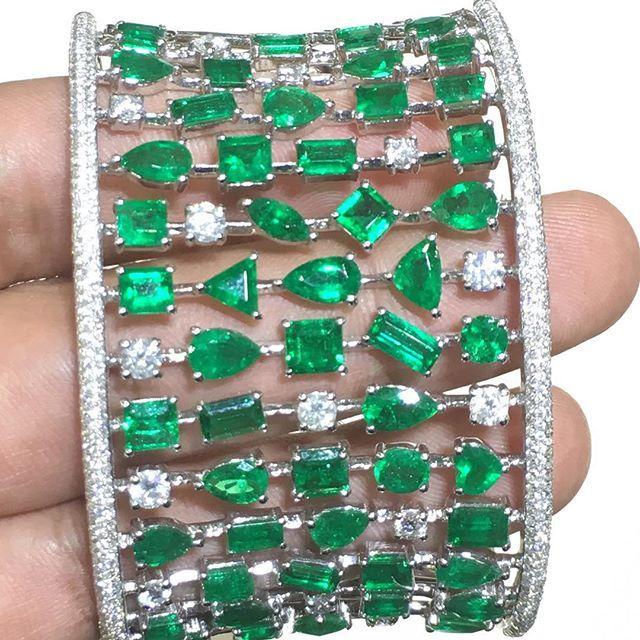 Diamonds & Emeralds Cuff!