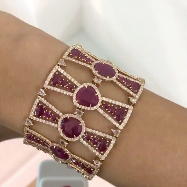 LOVELY !!! #Ruby and #Diamond #Bracelet by #sutrajewels via @bahrainjewellerycen...
