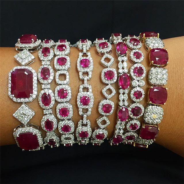 Ruby bracelet #stack! 😍❤️💎❤️😍