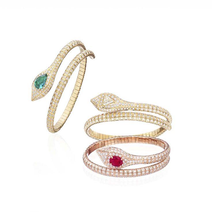 #iHistory #Mythology #TheRetronaut, #snake #bracelet in 18 kt #gold, #diamonds a...
