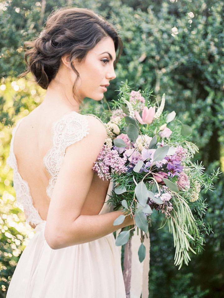 Featured Photographer: Alicia Lacey Photography; Wedding hairstyle idea.
