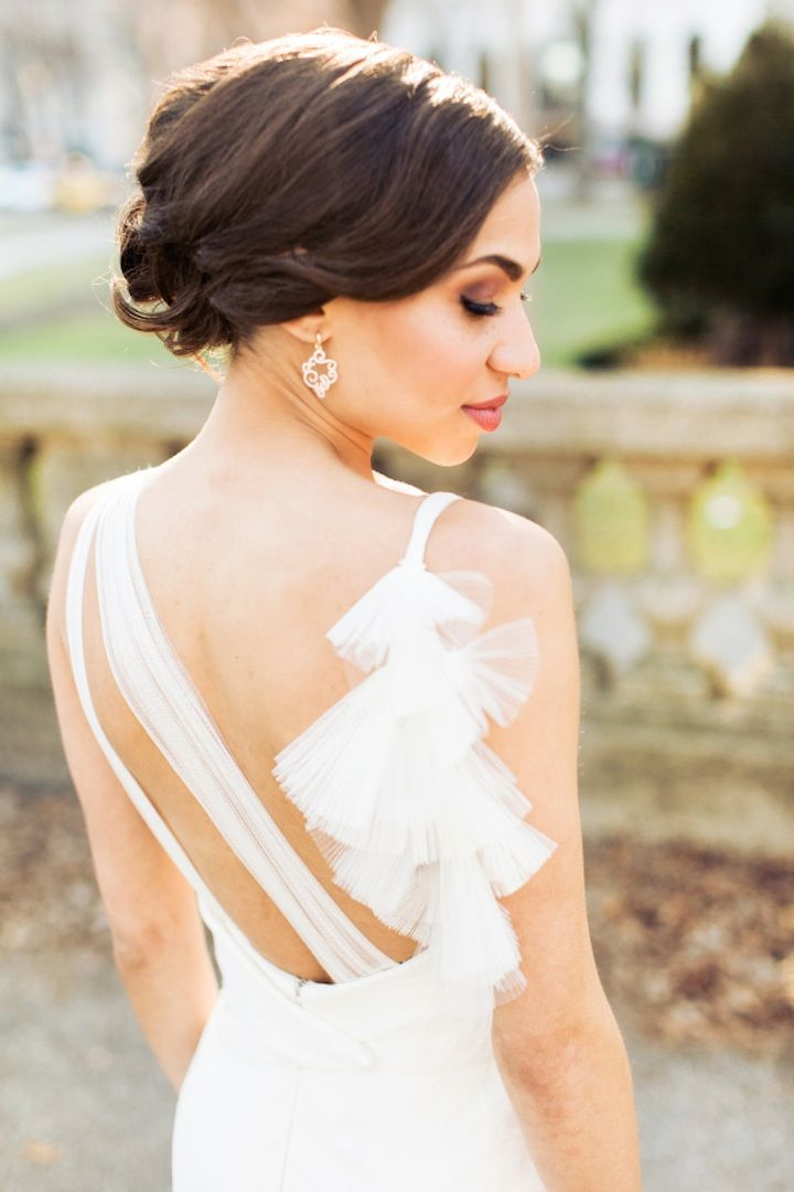 Featured Photographer: Olivia Leigh Photographie; Wedding hairstyle idea.