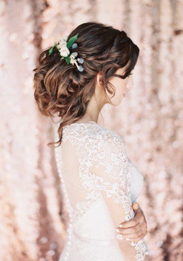 Featured Photographer: Sposto Photography; Wedding hairstyle idea.