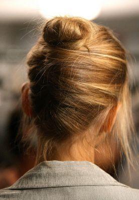 Long hairdo.