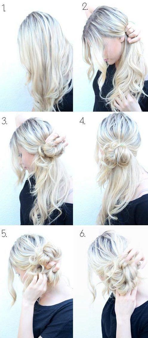 10 Trendy Messy Braid Bun Updos