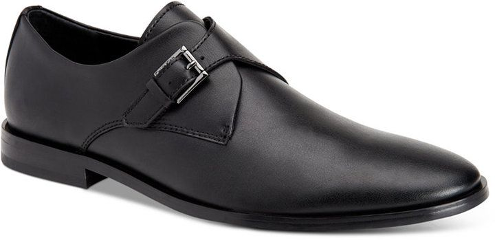 Calvin Klein Men's Norm Leather Monk Strap Loafers