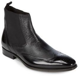 Chelsea Leather Wingtip Boots