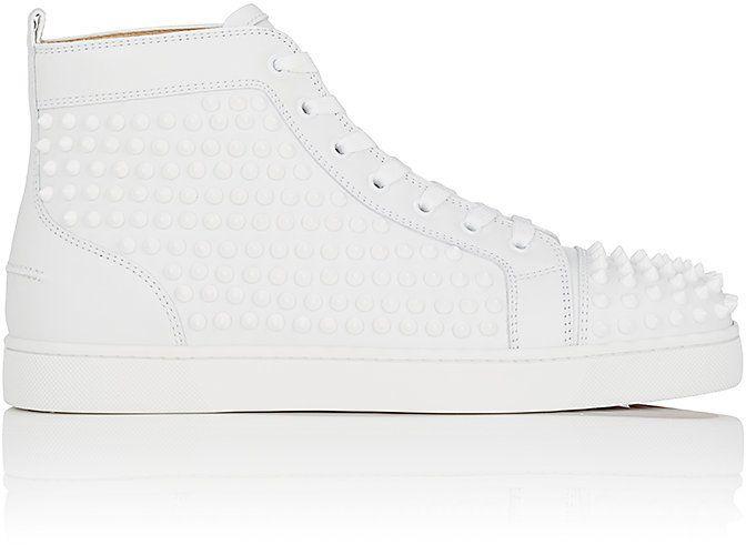 Christian Louboutin Men's Louis Flat Leather Sneakers