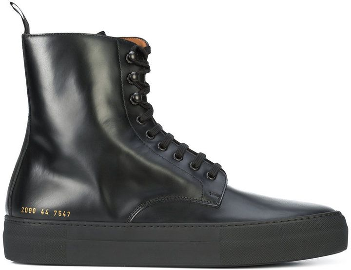 Common Projects smooth lace up military boots