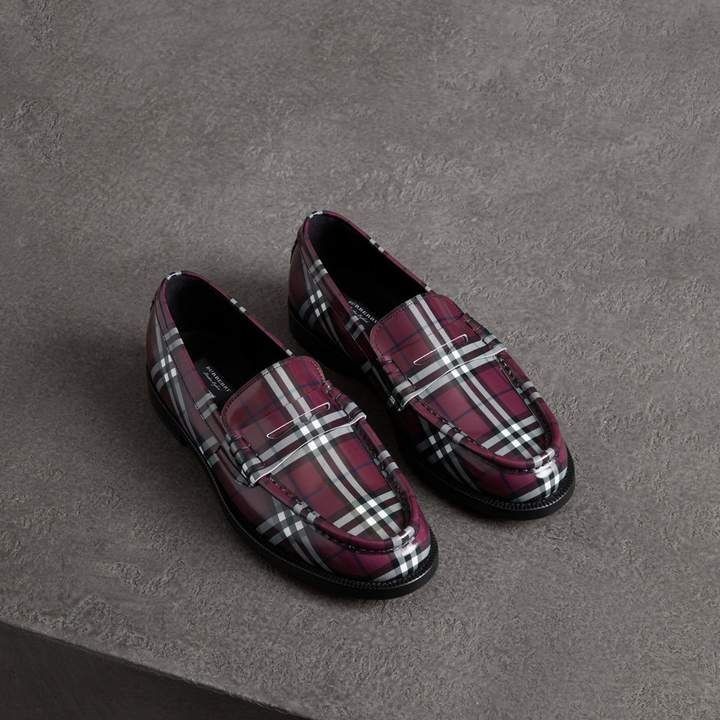 Gosha x Burberry Check Leather Loafers
