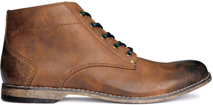 H&M - Boots - Tawny brown - Men