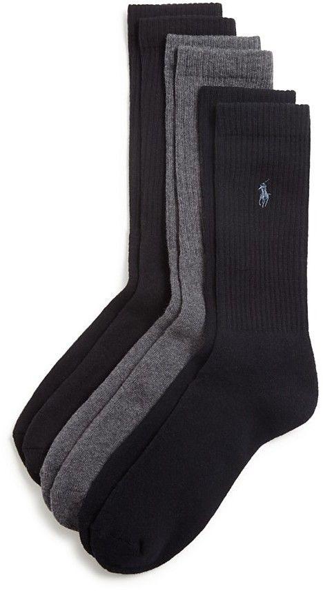 Polo Ralph Lauren Cushion Comfort Dress Socks, Pack of 3