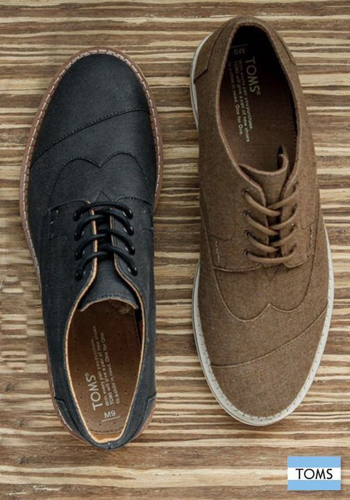 TOMS Men's Brogues will easily take your style from day to night.