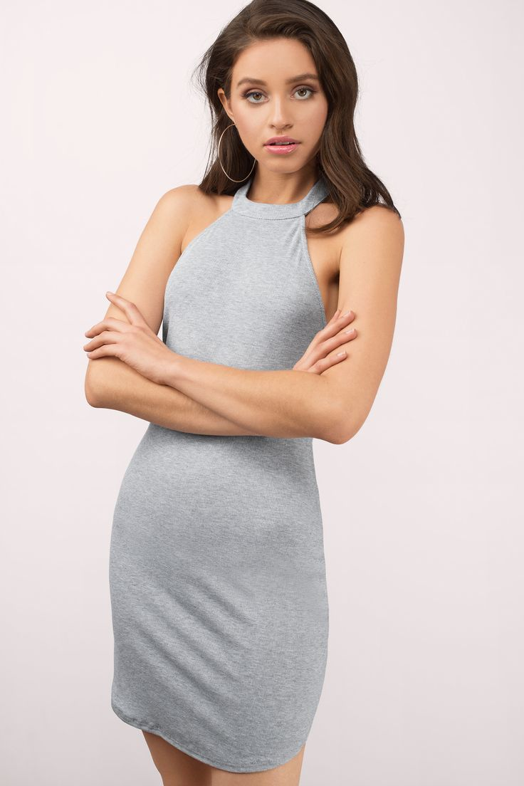 "6d739e4fd1 Search ""Azariah Heather Grey Bodycon Dress"" on Tobi.com! high neck sweater  mini dress heathered tight fitted form fitting  ShopTobi  fashion shop buy  cheap ..."
