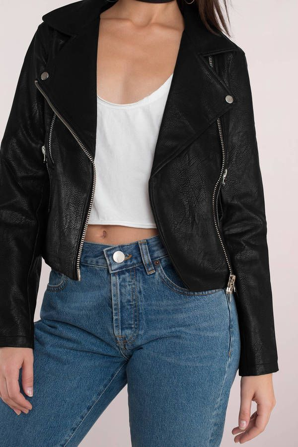 Bad Blood Faux Leather Moto Jacket