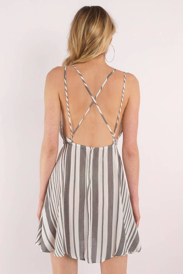 Stripe Out Skater Dress