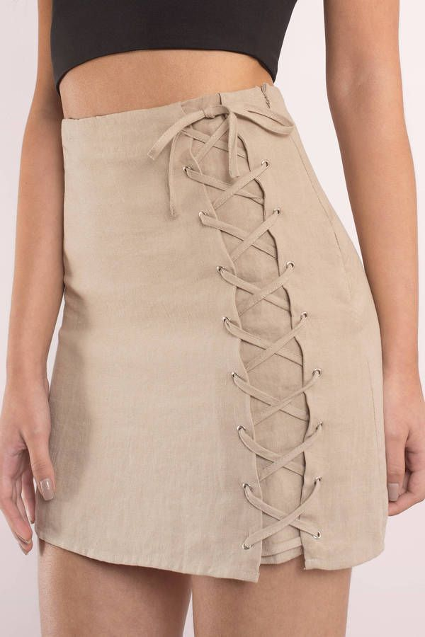 Alyssa Lace Up Skirt