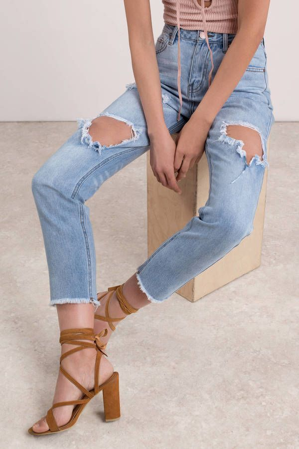 Whitley High Rise Distressed Jean