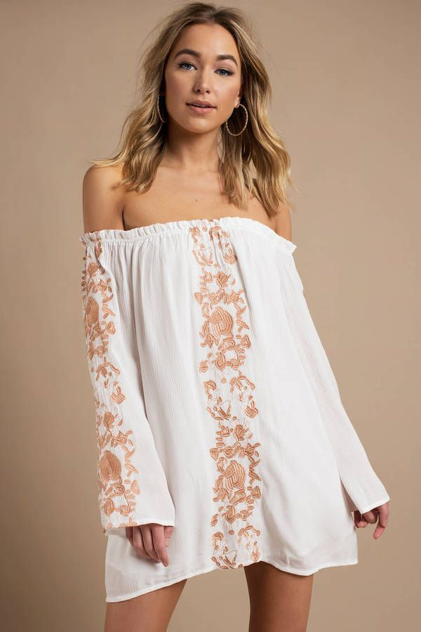 Boho Babe Embroidery Shift Dress