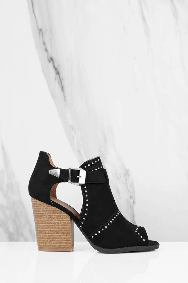 Barnes Side Cut Out Ankle Booties