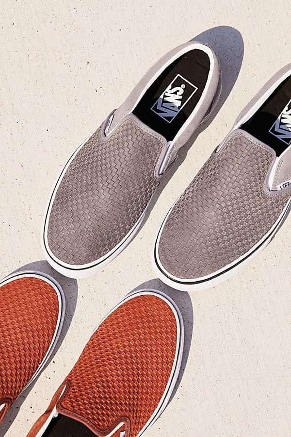 Embossed Suede Classic Slip On Sneaker