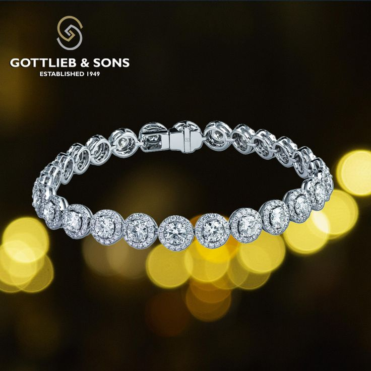This stunning 14K White Gold Diamond bracelet is a showstopper. This #bracelet...