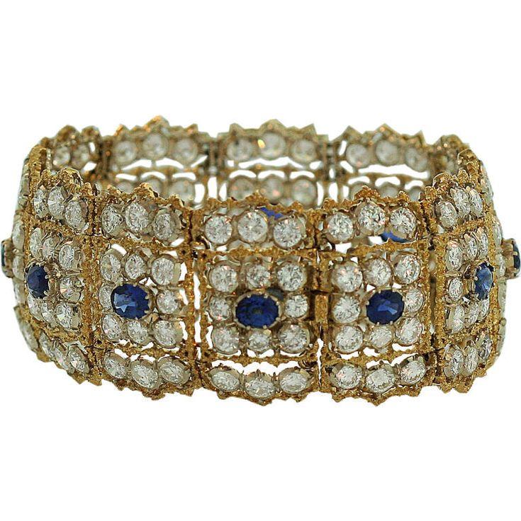 Diamond and Sapphire ''Telato'' bracelet Buccellati, Italy, 1967