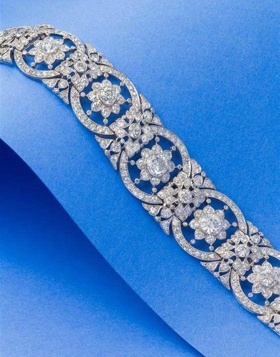 Solid Round Bezel Set Flower Style Tennis Bracelet 925 Sterling silver Jewelry* ...