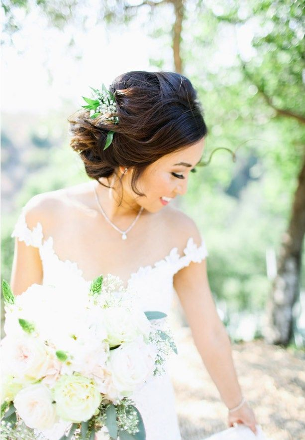 Featured Photographer: Adrienne Gunde Photography; wedding hairstyle idea