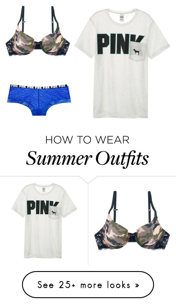 """0d7bb9d4cb405 """"Random outfit #111"""" by sarahmae-2307 on Polyvore featuring Victoria's  Secret"""