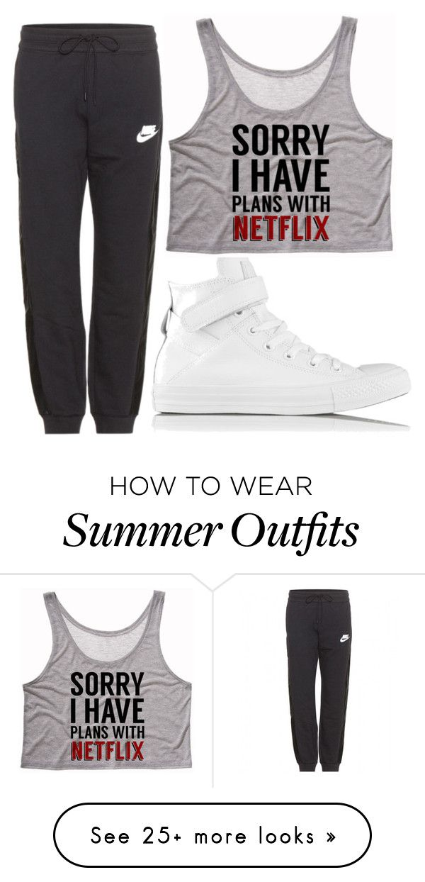 "2624d2f3c ""Untitled #71"" by hallieleandra on Polyvore featuring Converse and NIKE"