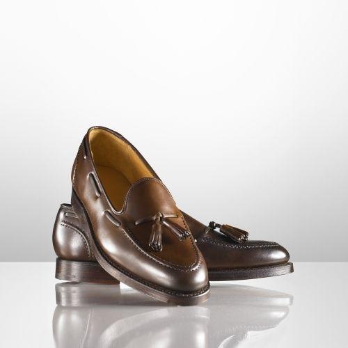 $850, Dark Brown Leather Tassel Loafers: Ralph Lauren Marlow Tassel Loafer. Sold...