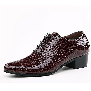 Leather Men's Low Heel Comfort Oxfords With Lace-up Shoes (More Colors) - US...