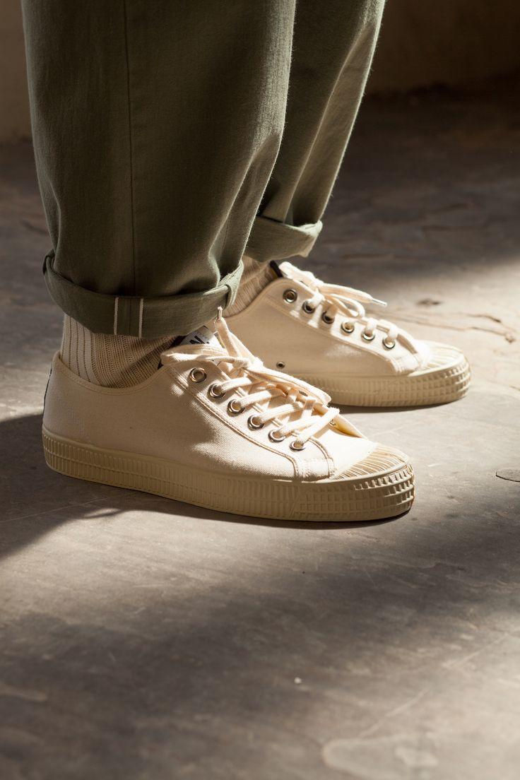 OTF shot of Universal Works X Novesta SS16 Star Master Ecru Sneaker
