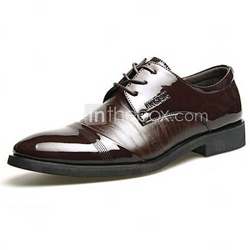 [USD $ 29.99] Leather Men's Low Heel Pointed Toe Oxfords with Lace-Up Shoes (Mor...