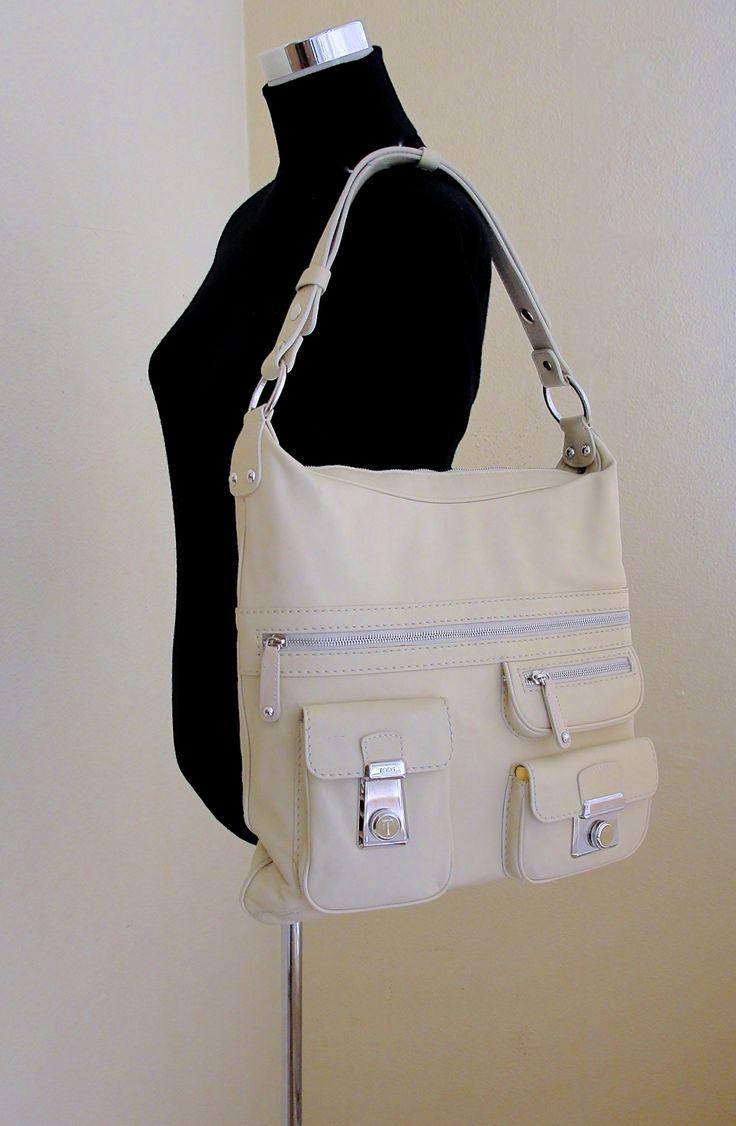 Tod's Oversized Beige Leather Shoulder Bag & Cross Body | Luxury & Vintage Mad...