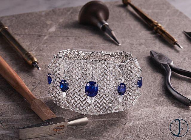 A Natural Burmese Sapphire & Diamond Bangle by FORMS #formsjewellery #burmesesap...